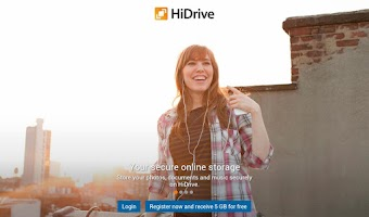 Screenshot of HiDrive