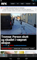 Screenshot of nrk.no