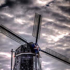 Windmill by Calvin Morgan - Buildings & Architecture Other Exteriors ( building, cloudscape, holland michigan, tulip time, windmill )