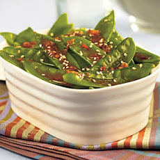 Orange-Sesame Snow Peas