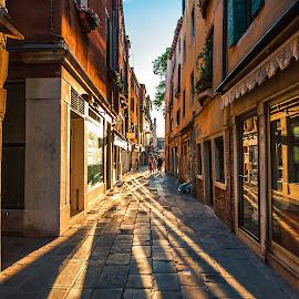 Streets Of Venezia by Jay Ramanjooloo - City,  Street & Park  Street Scenes ( goldenhours, venice, streets, travel, italy )