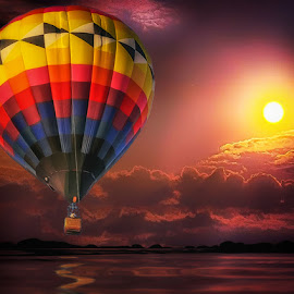 Sunset Balloon by Ron Meyers - Transportation Other
