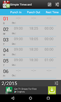 Screenshot of Simple Timecard