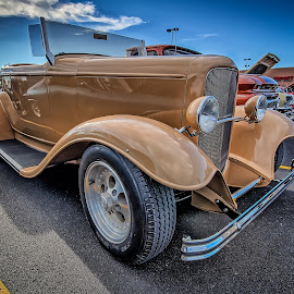 Cream Coupe by Ron Meyers - Transportation Automobiles