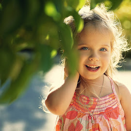 In the garden by Lucia STA - Babies & Children Child Portraits
