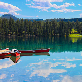 Emerald Lake by Carla Chidiac - Landscapes Travel ( mountains, alberta, canada, beautiful, rocky mountains, emerald lake, blue water, lake, rockies, travel, landscapes, jasper national park )