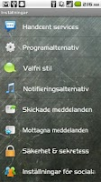 Screenshot of Handcent SMS Swedish Language