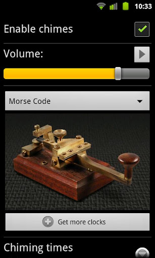 Morse Code for Chime Time