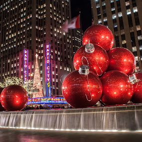 Radio City Music Hall by Daniel Gorman - Buildings & Architecture Office Buildings & Hotels ( radio city, rockefeller center, radio city music hall, night, manhattan, new york city, new york, city,  )