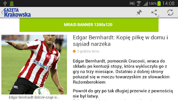 Screenshot of Gazeta Krakowska
