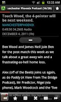 Screenshot of Manchester Phoenix Podcast App