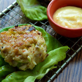Crab Cakes with Fennel, Scallions and Green Apple