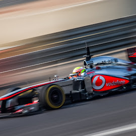 At High Speed by Jonathan Henchman - Sports & Fitness Motorsports ( speed, racing, movement, mclaren, f1, blur, fast, stripes, motion, silverstone )