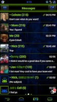 Screenshot of GO SMS Royal Kiwi Cobalt Theme