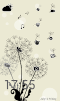 Screenshot of Launcher 8 theme:Dandelions