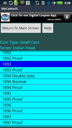 coin-collecting-my-us-coins for android screenshot