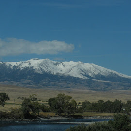 Snow Capped Mountains Out West by Xylina Payne - Landscapes Mountains & Hills ( mountains, snow, meadows, beauty, west )
