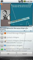 Screenshot of Messaging Widgets