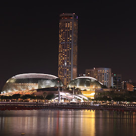 Esplanade at Night by Michael Loi - Novices Only Landscapes ( night, sg, singapore, esplanade )