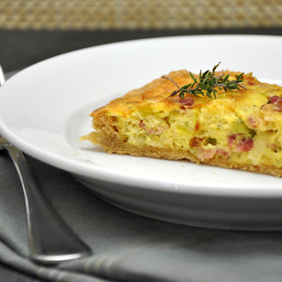 Spring Tart with Bacon, Leeks, Green Garlic, and Gruyere