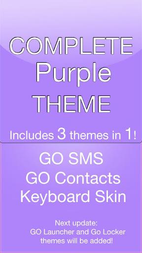 GO SMS Purple Theme