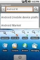 Screenshot of OpenSearch