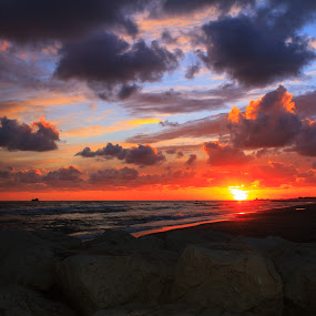 sunet by Ciprian Nafornita - Landscapes Sunsets & Sunrises ( sunset,  )