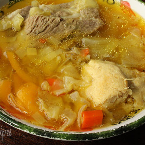 Cabbage Soup with Chicken and Pork