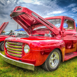 Red Ford by Ron Meyers - Transportation Automobiles