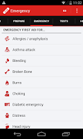 Screenshot of First Aid - American Red Cross