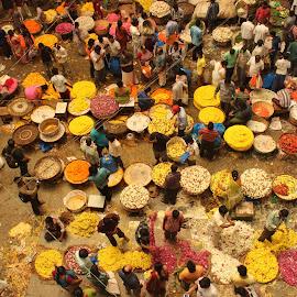Flower market by Archana Ramakrishnan - City,  Street & Park  Markets & Shops
