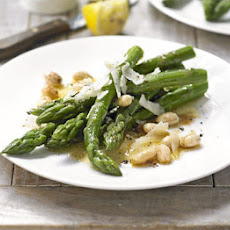 Sautéed asparagus, toasted almonds & Manchego cheese