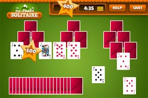 Screenshot of Tri Peaks Solitaire Free +