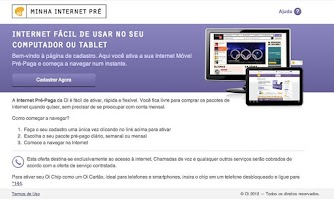 Screenshot of Oi Internet Pré