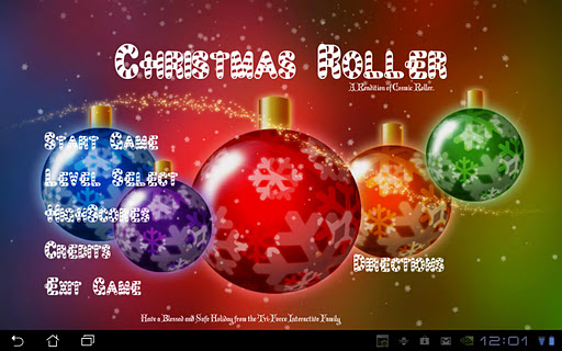 Christmas Roller HD Tablet