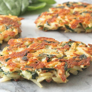Spinach and Chicken Hash Brown Patties