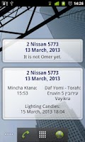 Screenshot of Simple Luach (Jewish calendar)