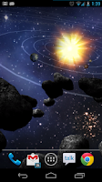Screenshot of Asteroid Belt Live Wallpaper