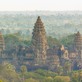 Ankor Wat Temple by Mark Prusiecki - Buildings & Architecture Public & Historical ( temple, ankor wat, building, travel, cambodia )