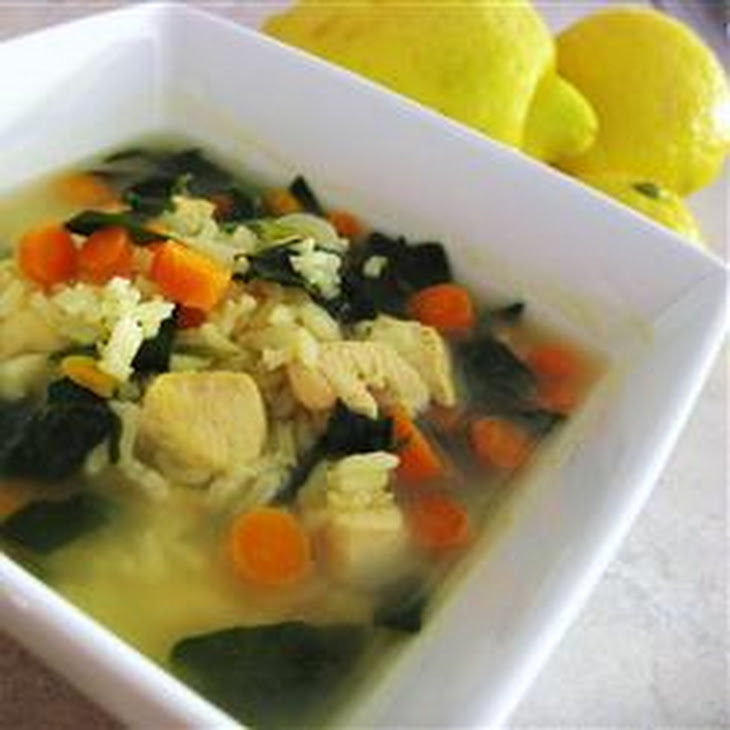 Lemon Chicken and Rice Soup Recipe | Yummly