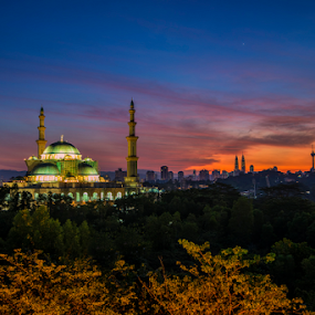 Blissful Sunrise at Masjid Wilayah by Nur Ismail Mohammed - Buildings & Architecture Places of Worship ( masjid, mosque, place of worship, single exposure, sunrise )