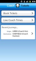 Screenshot of Coach Tickets