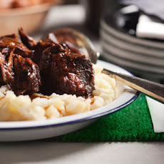 "Braised Short Ribs with Potatoes and Apples ""Risotto Style"""