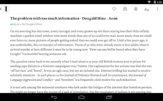 Screenshot of Instapaper