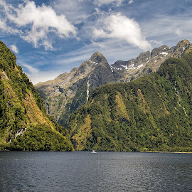 Doubtful Sound by Vibeke Friis - Landscapes Mountains & Hills ( water, mountains, doubtful sound,  )