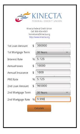Kinecta Credit Mortgage Calc.