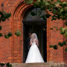 waiting by Pawel Czaja - Wedding Bride & Groom ( church, wedding, bride, ceremony, groom )
