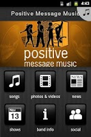 Screenshot of Positive Message Music