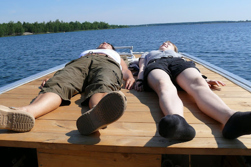 fahrt mit einem solarboot auf dem senftenberger see 2