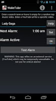 Screenshot of WakeTube - YouTube Alarm Clock
